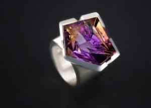 Ring, Silber, Ametrin