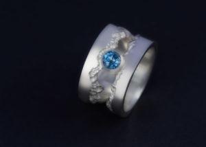 Ring, Silber, Edeltopas